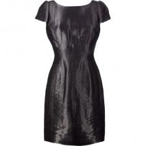 J Mendel Iron Degrade Jaquard Capsleeve Dress