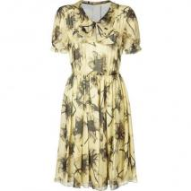 Jason Wu Lemon Floral Chiffon Dress