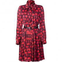 Jason Wu Red Ascot Belted Dress