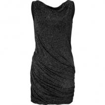 Jay Ahr Black Draped Lurex Dress