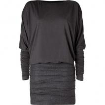 Jay Ahr Flannel Pleated Skirt With Jersey Top Dress
