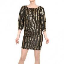 Jay Ahr Seiden Brocade Kleid