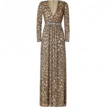 Jenny Packham Gold Sequin Gown