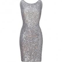 Jenny Packham Light Slate Allover Sequined Dress