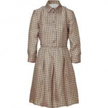 Jil Sander Navy Nude/Olive Printed Organza Dress