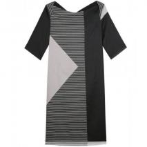Jil Sander Navy Pattern Dress