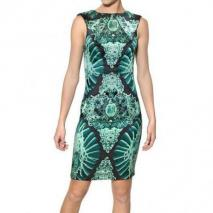John Richmond Bedrucktes Stretch Crepe De Chine Kleid