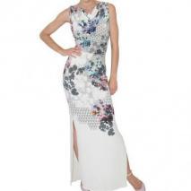Jonathan Saunders Kleid Print Auf Stretch Crepe