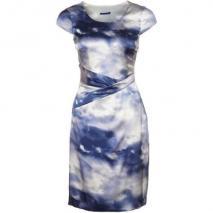 Joop! Cocktailkleid / festliches Kleid blau/weiß