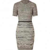 Joseph Black/Ecru Tweed Wool Nico Dress