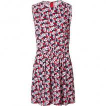 Joseph Red Floral Print Dress Thea