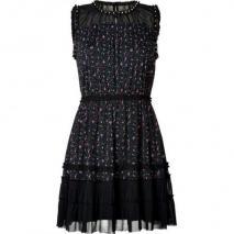 Juicy Couture Black/Multicolor Studded Floral Print Dress