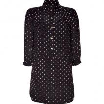 Juicy Couture Black Yorkshire Silk Shirt Dress