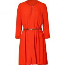 Juicy Couture Firecracker Red Crepe Belted Dress