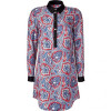 Juicy Couture Indian Gem Paisley Print Silk Tunic