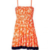 Juicy Couture Lightning Orange Smocked Dress