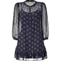 Juicy Couture Regal Lovebirds Print Silk Dress