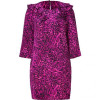 Juicy Couture Royal Purple Leopard Print Silk Dress