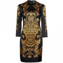 Just Cavalli Cocktailkleid / festliches Kleid schwarz mit Ärmeln