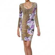 Just Cavalli Leichtes Bedrucktes Krepp Jersey Kleid