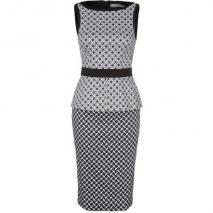 Karen Millen Etuikleid black & white