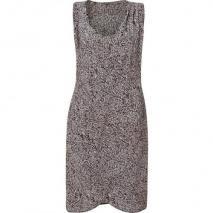 LAgence Beige/Black Printed Silk Dress