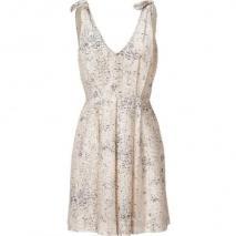 LAgence Ivory/Navy Shoulder Tie Dress