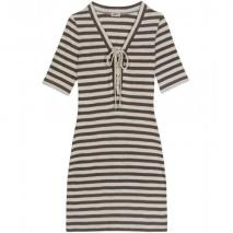 L'Agence Striped Jersey Dress