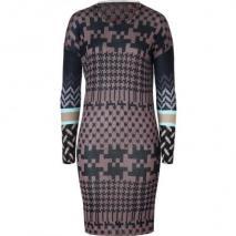Lala Berlin Black/Brown Wool Knit Ellen Dress