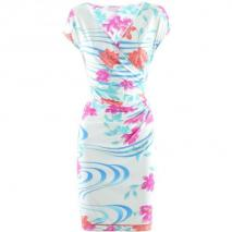 Leonard White Turquoise Dress Gladys Flora