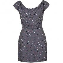 Lifetime Collective Printed Claudia Sommerkleid grey/triangle