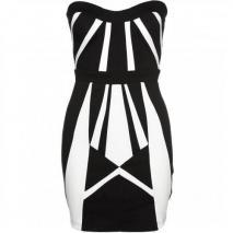 Lipsy Cocktailkleid / festliches Kleid black/white