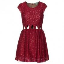 Lovers + Friends Friday Nights Maroon Lace