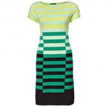 Luisa Cerano Kleid Grün mit Streifen