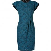 LWren Scott Teal Kimono Lace Dress