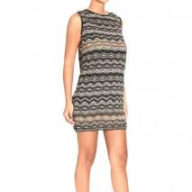 M Missoni Sleeveless lurex waves dress