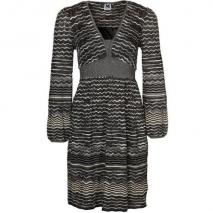 M Missoni Strickkleid black gold