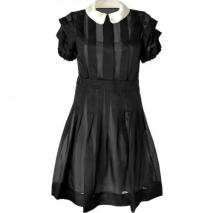 Marc by Marc Jacobs Black Silk Organza Anastasia Dress