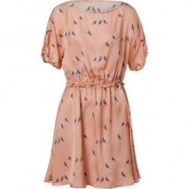 Marc by Marc Jacobs Brushed Rose Bird Printed Silk Dress