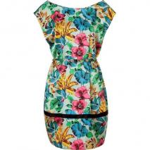 Marc by Marc Jacobs Dusty Sage Floral Silk Dress