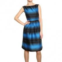 Marc By Marc Jacobs Faded Gestreiftes Mattes Seiden Twill Kleid