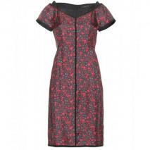 Marc Jacobs Kleid Aus Seidentwill Rot