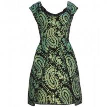 Marc Jacobs Lindsay Metallic-Jacquard-Kleid