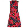 Marni Baumwollkleid Mit Floralem Print Rot