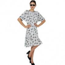 Marni Bedrucktes Crepe De Chine Kleid Grau