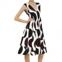 Marni Gefaltetes Und Bedrucktes Kleid Aus Baumwolle