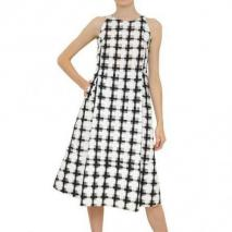 Marni Geometrisches Jacquard Baumwollen Organza Kleid