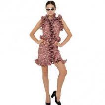 Marni Gerafftes Krepp De Chine Kleid Mit Druck Rot