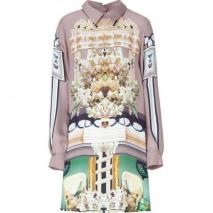 Mary Katrantzou Darjeeling/Jade Silk Georgette Shirtdress