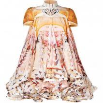 Mary Katrantzou Honey Cake A Flake Silk Dress